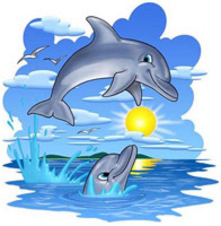 препятствует веселые рисунки дельфинов тех